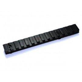 Set de 2 rails noir 12cm