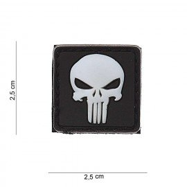 Patch PVC Punisher Blanc