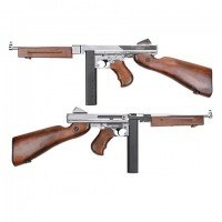 King Arms M1A1 Military Grand Special Argent