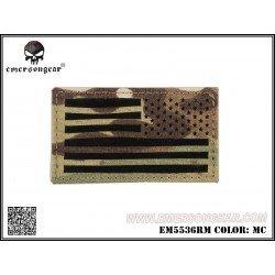 Emerson Patch Tissu Drapeau USA Multicam Droite