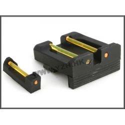 Organes de visée Fibre Optique orange pour Glock