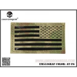Emerson Patch Tissu Drapeau USA A-tacs FG Gauche