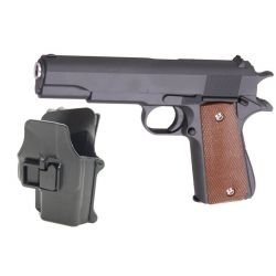Galaxy G13 pack Colt M1911 Full Metal Ressort avec Holster
