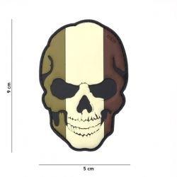 Patch 3D PVC Skull Drapeau France basse visibilité