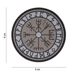 Patch 3D PVC Runes de Protection Gris