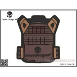 Patch 3D PVC Gilet JPC Coyote