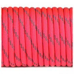 Fibex Paracorde Reflective Soft Pink