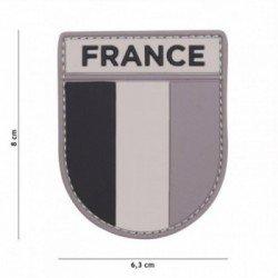 Patch 3D PVC Armée Française Gris/Noir