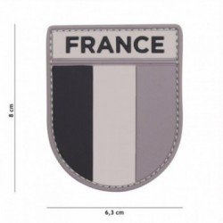 Patch 3D PVC French army Gris/Noir
