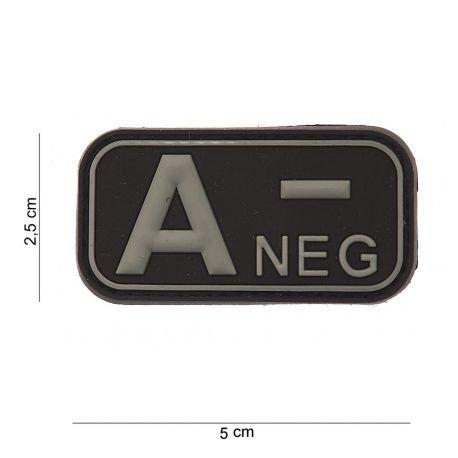 Patch 3D PVC A- Negatif Noir